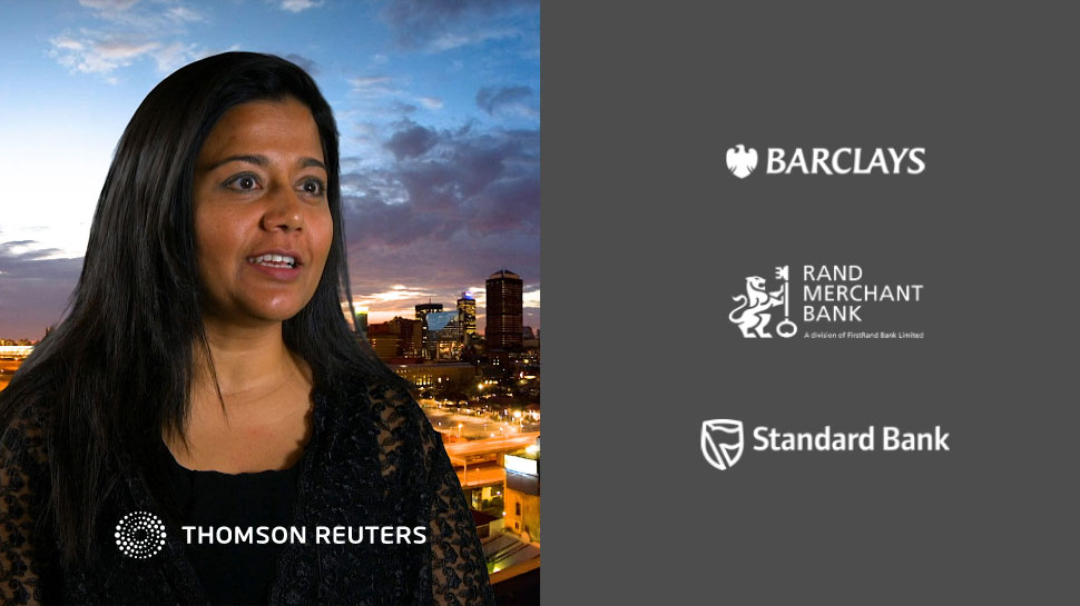 Video interview on partnership between Thomson Reuters and South African banks.